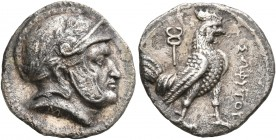 BAKTRIA, Local Issues. Sophytes, circa 280/78-270 BC. Drachm (Silver, 16 mm, 3.47 g, 6 h), Attic standard, uncertain mint in the Oxus region. Male hea...