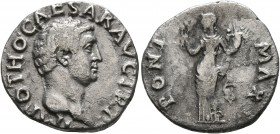 Otho, 69. Denarius (Silver, 18 mm, 2.88 g, 7 h), Rome, 15 January-16 April 69. IMP OTHO CAESAR AVG TR P Bare head of Otho to right. Rev. PONT MAX Cere...