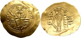 Alexius I Comnenus, 1081-1118. Hyperpyron (Gold, 31 mm, 4.41 g, 6 h), post-reform coinage, Constantinopolis, 1092-1118. +ΚЄ ROHΘЄI Christ, nimbate, se...