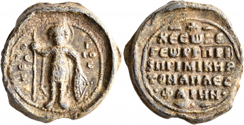 Georgios Aplesphares, patrikios and primikerios, 2nd half 11th century. Seal (Le...