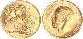 GREAT BRITAIN. GEORGE V. (1910-1936) Sovereign 1925. Friedberg 404 absolute UNC