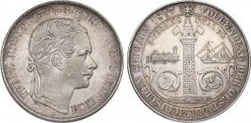 AUSTRIA. FRANZ IOSEPH I. (1848-1916)  2 Vereinsthaler 1857 Wien. Coined in commemoration of the completion of the South Austrian railway between Vienn...