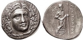 R CARIAN Satraps , Pixodaros, 341-335 BC, Didrachm, Apollo head 3/4 rt/Zeus Labraundos stg r, S4966; VF-EF, centered, well struck, good strong head in...