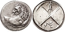 R CHERRONESOS , Hemidrachm c.400-350 BC, Lion forepart rt, head left/Quadripartite, in one quarter VE monogram & pellet, in the other a salamander ( r...