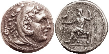 MACEDON , Alexander the Great, Tet, of Corinth, issued by Demetrios Poliorketes,...