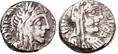 "NABATAEA , Silver Drachm, Rabbel II & Queen Gamilath (his sister, whom he married. That's where we get the word ""rabble."") 71-106 AD, GIC-5705, Bust r..."