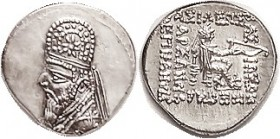 PARTHIA , Mithradates II, Drachm, Sel.28.7, Choice Mint State, good centering & wonderful strike with superb portrait detail. Bright lustrous silver. ...