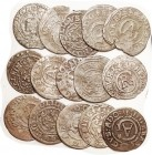 ELBING , Billon Solidus, 17 mm, 1630-35, lot of 15 pcs, avg crude G-VG or better, no dates.