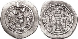 Peroz, 459-84, Drachm, 28 mm, Gor mint (very clear), Choice AEF, well centered & boldly struck, not crude; good metal with lt tone. (A VF realized $20...