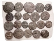 GREEK, 21 assorted, better than last, generally around VG, many may be identifiable. Three lots available.