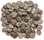 PARTHIA, Lot of 97 small bronzes, quite low grade, probably not identifiable except that they are definitely Parthian, mostly green patinas. Two lots ...