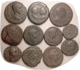 ROMAN PROVINCIAL, 11 pcs, all around VG, not bad, generally probably identifiable.
