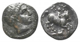 KINGS of THRACE. Lysimachos, as Satrap. 323-305 BC. AR 1/5th Tetradrachm. Amphipolis mint. Struck under Philip III (via Kassander), circa 320-317 BC. ...