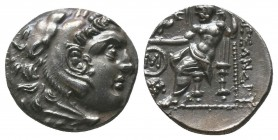 ISLANDS off IONIA, Chios. Circa 290-275 BC. AR Drachm . In the name and types of Alexander III. Head of Herakles right, wearing lion skin / Zeus Aëtop...
