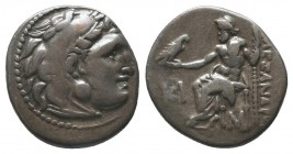 "Kings of Macedon . Alexander III. ""The Great"" (336-323 BC). AR Drachm  Condition: Very Fine  Weight: 4.20 gr Diameter: 18 mm"