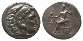 "Kings of Macedon . Alexander III. ""The Great"" (336-323 BC). AR Drachm  Condition: Very Fine  Weight: 4.30 gr Diameter: 17 mm"