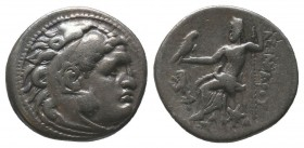 "Kings of Macedon . Alexander III. ""The Great"" (336-323 BC). AR Drachm  Condition: Very Fine  Weight: 4.30 gr Diameter: 18 mm"