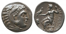 "Kings of Macedon . Alexander III. ""The Great"" (336-323 BC). AR Drachm  Condition: Very Fine  Weight: 4.10 gr Diameter: 16 mm"