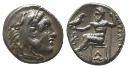 "Kings of Macedon . Alexander III. ""The Great"" (336-323 BC). AR Drachm  Condition: Very Fine  Weight: 4.00 gr Diameter: 16 mm"