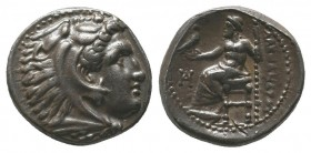 "Kings of Macedon . Alexander III. ""The Great"" (336-323 BC). AR Drachm  Condition: Very Fine  Weight: 4.20 gr Diameter: 16 mm"