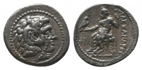 "Kings of Macedon . Alexander III. ""The Great"" (336-323 BC). AR Drachm  Condition: Very Fine  Weight: 2.00 gr Diameter: 14 mm"