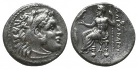 "Kings of Macedon . Alexander III. ""The Great"" (336-323 BC). AR Drachm  Condition: Very Fine  Weight: 4.00 gr Diameter: 17 mm"