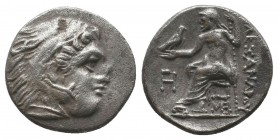 "Kings of Macedon . Alexander III. ""The Great"" (336-323 BC). AR Drachm  Condition: Very Fine  Weight: 4.20 gr Diameter: 17 mm"