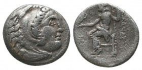 "Kings of Macedon . Alexander III. ""The Great"" (336-323 BC). AR Drachm  Condition: Very Fine  Weight: 4.10 gr Diameter: 17 mm"