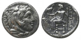 "Kings of Macedon . Alexander III. ""The Great"" (336-323 BC). AR Drachm  Condition: Very Fine  Weight: 4.20 gr Diameter: 15 mm"