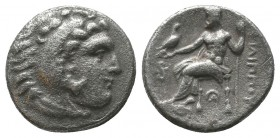 "Kings of Macedon . Alexander III. ""The Great"" (336-323 BC). AR Drachm  Condition: Very Fine  Weight: 3.90 gr Diameter: 17 mm"