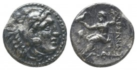 "Kings of Macedon . Alexander III. ""The Great"" (336-323 BC). AR Drachm  Condition: Very Fine  Weight: 3.80 gr Diameter: 17 mm"