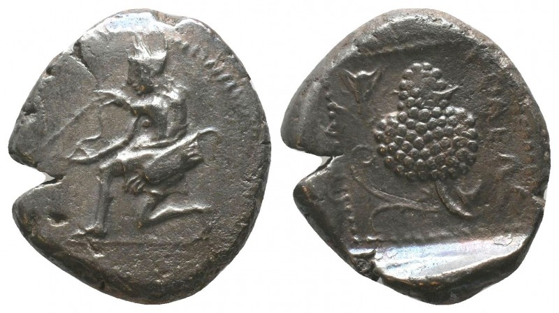 CILICIA, Soloi. 425-400. Stater, Amazon, nude to the waist and seen from behind,...