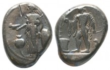 Side. Stater 3rd cent. BC, AR SNG von Aulock 4772. SNG Berry 1235.  Condition: Very Fine  Weight: 10.50 gr Diameter: 23 mm