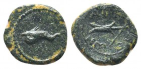 PAMPHYLIA, Attaleia c. 10-100 AD, AE  Condition: Very Fine  Weight: 2.00 gr Diameter: 13 mm