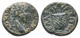 AEOLIS, Elaia, Commodus as Caesar c. 166-177 AD, AE  Condition: Very Fine  Weight: 2.10 gr Diameter: 14 mm