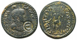 PAMPHYLIA, Side, Salonina c. 254-268 AD, AE, countermark  Condition: Very Fine  Weight: 18.70 gr Diameter: 29 mm