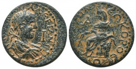 PAMPHYLIA, Side uncertain, Valerian c. 260 AD, AE,   Condition: Very Fine  Weight: 17.00 gr Diameter: 30 mm