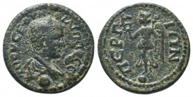 PAMPHYLIA, Perga, Philip II c. 247-249 AD, AE,   Condition: Very Fine  Weight: 8.40 gr Diameter: 24 mm