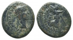 LYDIA. Tiberius (14-37). Ae.  Condition: Very Fine  Weight: 3.60 gr Diameter: 17 mm