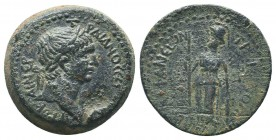Cilicia, Epiphaneia. Trajan. A.D. 98-117. AE Struck A.D 113/14. [ΑΥ KA]I NEP [...] ΤΡΑΙΑΝΟС [СΕ ΓΕΡ ΔΑ], laureate head of Trajan right / ΕΠΙΦΑΝΕωΝ ΤΡΑ...