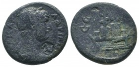 PISIDIA, Selge, Hadrian c. 117-138 AD, AE, countermark  Condition: Very Fine  Weight: 10.80 gr Diameter: 24 mm