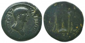 PHRYGIA, Philomelium, Agrippina II c. 50-59 AD, AE,   Condition: Very Fine  Weight: 11.20 gr Diameter: 25 mm