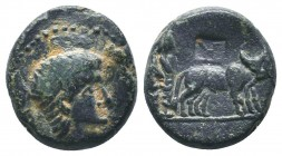 Augustus (27 BC-14 AD). Ae.  Condition: Very Fine  Weight: 5.10 gr Diameter: 17 mm