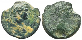 CILICIA, Anazarbus. Trajan, with Marciana. 98-117 AD. Æ   Condition: Very Fine  Weight: 17.70 gr Diameter: 31 mm