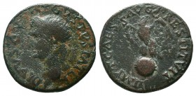 Tiberius (14-37 AD) for Divus Augustus (+ 14 AD). AE As   Condition: Very Fine  Weight: 9.10 gr Diameter: 26 mm