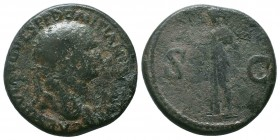 Domitian, as Caesar, Æ Sestertius. Rome, AD 80-81.   Condition: Very Fine  Weight: 25.30 gr Diameter: 33 mm