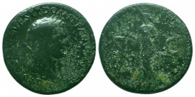 Domitian, as Caesar, Æ Sestertius. Rome, AD 80-81.   Condition: Very Fine  Weight: 24.30 gr Diameter: 34 mm