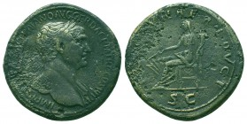TRAJAN (98-117). Sestertius. Rome.  Condition: Very Fine  Weight: 26.60 gr Diameter: 33 mm