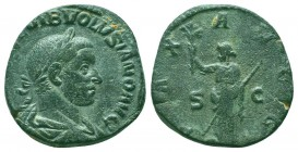VOLUSIAN, 251-253 AD. Æ Sestertius  Condition: Very Fine  Weight: 16.80 gr Diameter: 27 mm