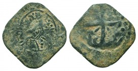CRUSADERS. Baldwin II. 1108-1118 AD.AE Follis. Edessa mint.RARE COIN  Condition: Very Fine  Weight: 1.90 gr Diameter: 22 mm